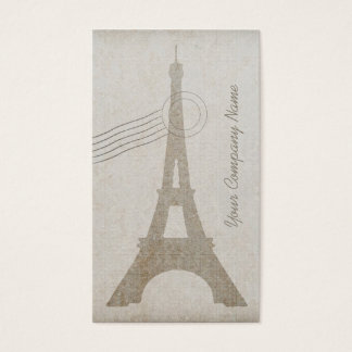 Vintage Canvas Eiffel Tower Travel - Business Card