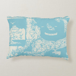 Vintage Cape Cod Map Decorative Cushion