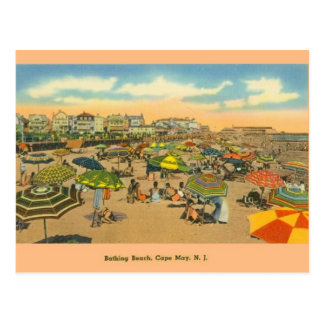 Vintage Cape May New Jersey Bathing Beach Postcard