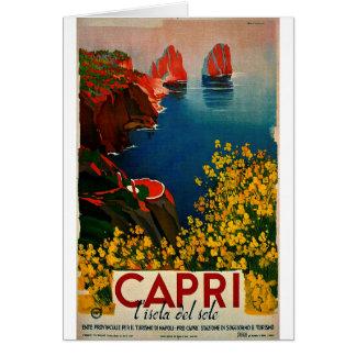 Vintage Capri L'Isola del Sole Italy Card