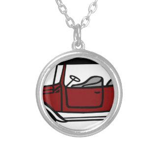 Vintage Car Automobile Old Antique Vehicle Auto Silver Plated Necklace