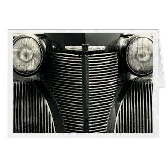 Vintage Car Grill Card