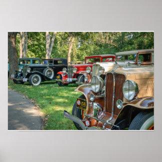 Vintage Car Group - Color Poster
