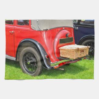 Vintage car hand towel