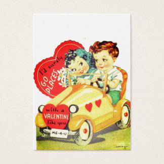 Vintage Car Kids Valentine's Day Valentine