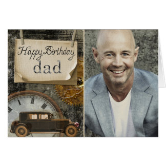 Vintage Car Lover | Happy Birthday Dad Photo Card