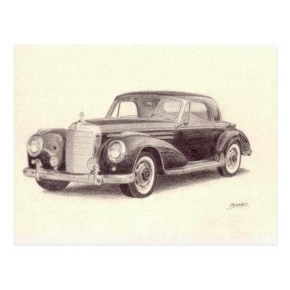 Vintage Car: Mercedes Benz 300S Postcard