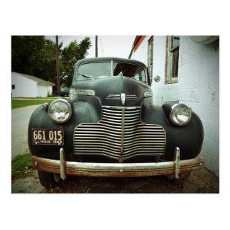 Vintage Car on Route 66 Postcard