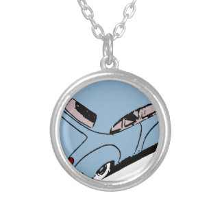 Vintage Car Silver Plated Necklace