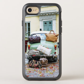 Vintage car with lots of luggage OtterBox symmetry iPhone 8/7 case