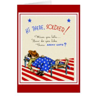 Vintage Card Best Wishes To Soldier Boyfriend