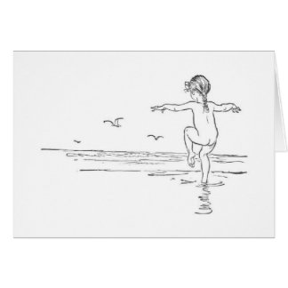 Vintage - Carefree Summer Beach Day, Card