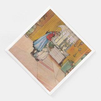 Vintage Carl Larsson The Kitchen Disposable Serviettes