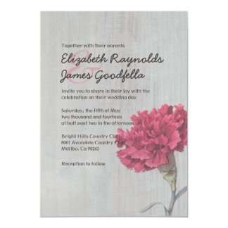 Vintage Carnation Wedding Invitations