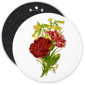 Vintage Carnations Buttons
