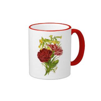 Vintage Carnations Coffee Mugs