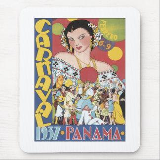 Vintage Carnaval Panama 1937 Mouse Pad