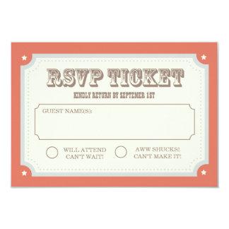 Vintage Carnival RSVP Card 9 Cm X 13 Cm Invitation Card