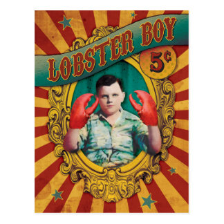 Vintage Carnival Side Show Lobster Boy Postcard