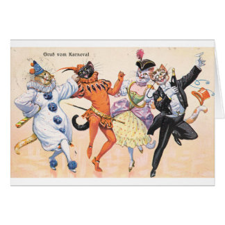 Vintage - Carnivale Cats, Card