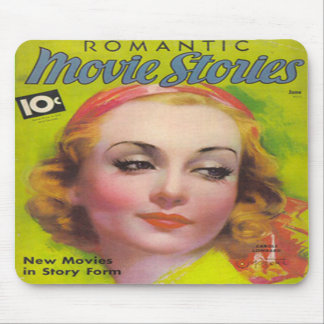 Vintage Carole Lombard Movie Stories Mag Mousepad