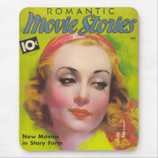 Vintage Carole Lombard Movie Stories Mag Mouse Pad