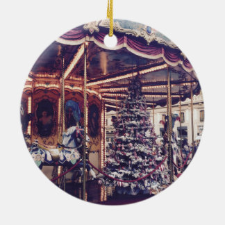 Vintage Carousel Christmas Ornament