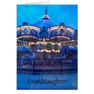 """VINTAGE CAROUSEL"" HAPPY BIRTHDAY GRANDDAUGHTER CARD"