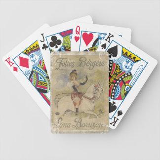 Vintage Carousel Horse Poker Deck