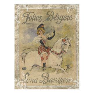Vintage Carousel Horse Postcard