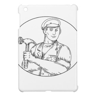 Vintage Carpenter Hammer Mono Line iPad Mini Case
