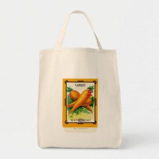 Vintage Carrot Seed Packet Design Tote Bag