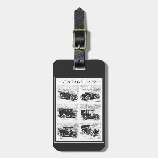 Vintage cars custom luggage tag