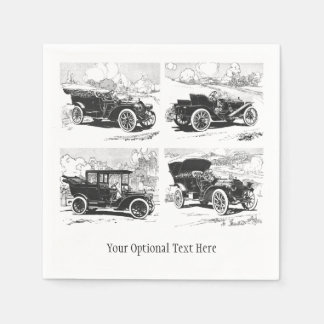 Vintage cars custom paper napkins paper napkin