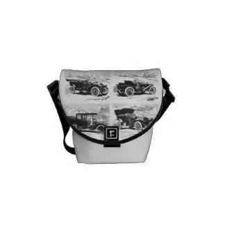 Vintage cars messenger bag