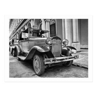 Vintage cars postcard