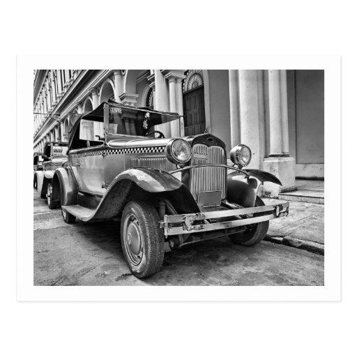 Vintage cars post card