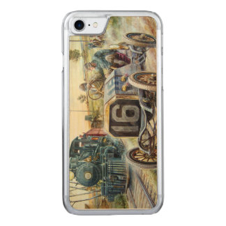Vintage Cars Racing Scene,train painting Carved iPhone 7 Case