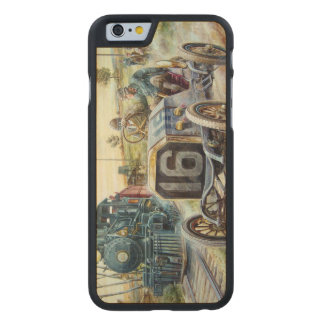 Vintage Cars Racing Scene,train painting Carved® Maple iPhone 6 Slim Case