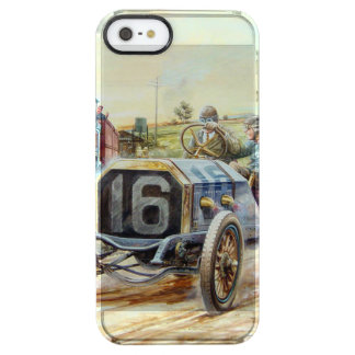 Vintage Cars Racing Scene,train painting Clear iPhone SE/5/5s Case