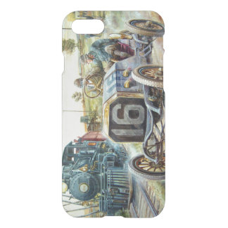 Vintage Cars Racing Scene,train painting iPhone 7 Case