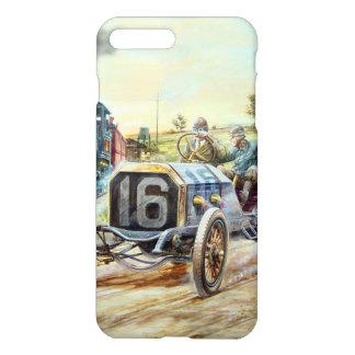 Vintage Cars Racing Scene,train painting iPhone 7 Plus Case