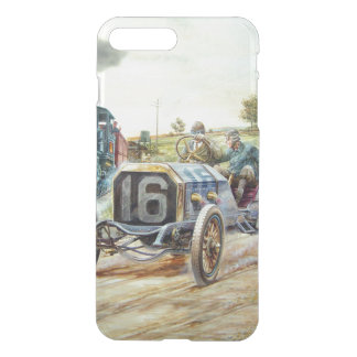 Vintage Cars Racing Scene,train painting iPhone 7 Plus Case