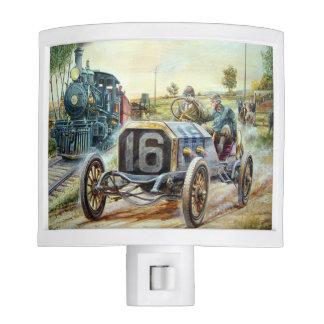 Vintage Cars Racing Scene,train painting Night Lites