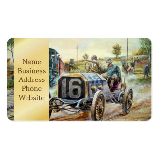 Vintage Cars Racing Scene,train painting Pack Of Standard Business Cards