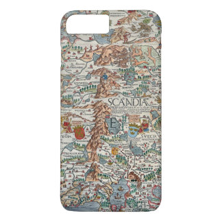 Vintage Carta Marina Scandinavia Map iPhone 7 Plus Case