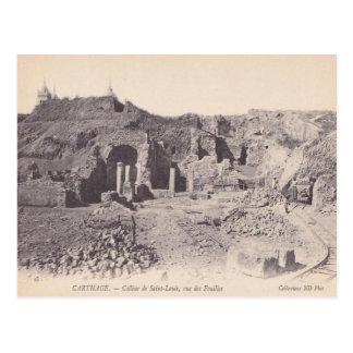 Vintage  Carthage, Roman remains, Hill of St Louis Postcard
