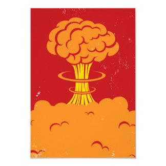 Vintage Cartoon Mushroom Cloud 9 Cm X 13 Cm Invitation Card