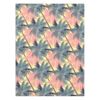 Vintage Cartoon Palm Trees Tablecloth