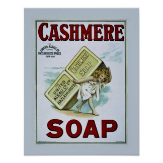 Vintage Cashmere Soap Poster